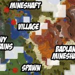 Easy Mineshafts Under Village and in Badlands Biome